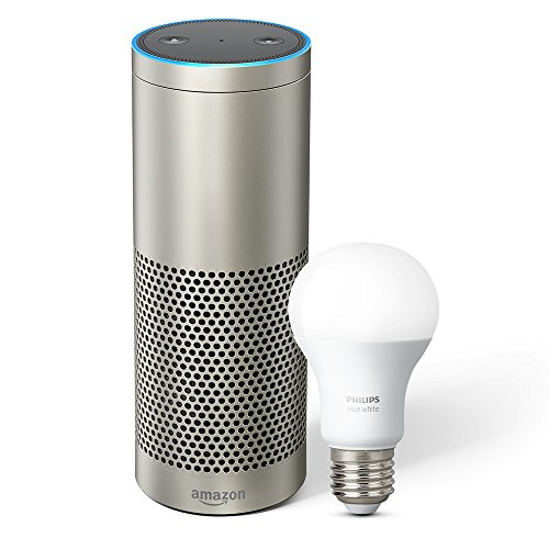Introducing Echo Plus with built-in Hub – Silver + Philips Hue Bulb included