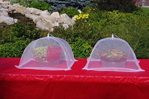 4pk 16 Inch Collapsible Mesh Food Cover Tent Umbrella