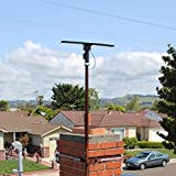 UHF/VHF/FM Radio Amplified HDTV Outdoor Antenna 150 Miles Long Range and 360 Degree Rotation and Infrared Remote Control