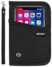 Defway Passport Wallet RFID Blocking Travel Organizer Bag, Family Passport Holder with ID Window