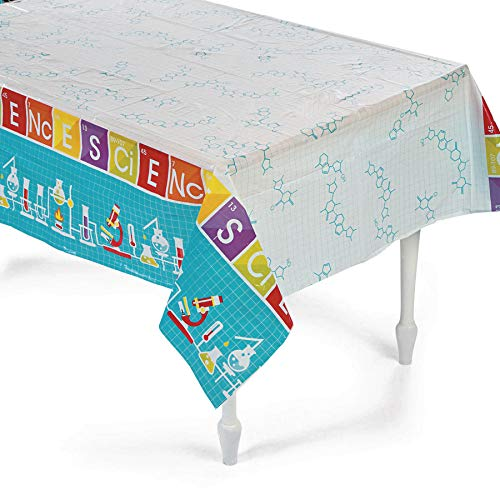 Fun Express Science Party Plastic Tablecloth - 108