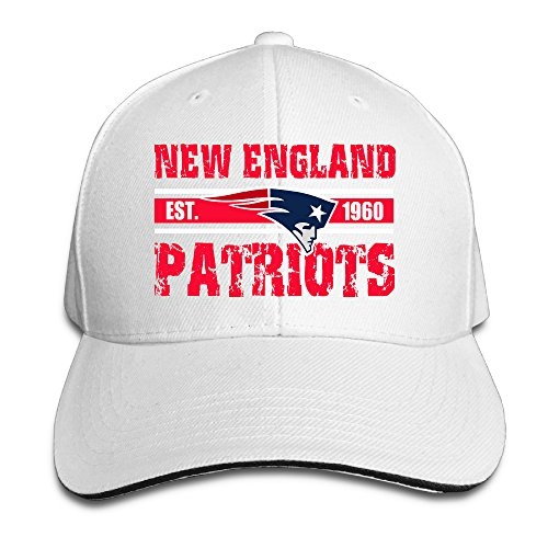 Harriy New England Patriot Trucker Sandwich Cap White