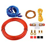 XCSOURCE 10GA Car Audio AMP Power Cable Subwoofer Amplifier Wiring 4.0m Set with AGU FUSE 60A for Car Auto Vehicle Audio Stereo MA663