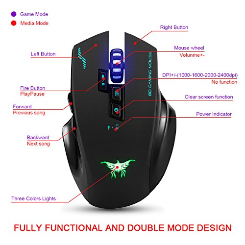 51B3d1AAZEL - JinSun-Rechargeable-24G-Laptop-2-in-1-Wireless-Wired-Gaming-Mouse-Optical-Mice-with-USB-8-Buttons-3-Colors-Breathing-Lights-for-PC-and-Mac-8001200160020002400DPI-Adjustment