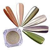 BORN PRETTY Nail Art Mirror Glitter Powder Gold Shimmer Pigment Dust Shinning Chrome Dust for Manicure Makeup 0.5g