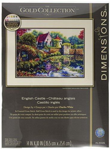 "Gold Collection English Castle Counted Cross Stitch Kit-14""X"