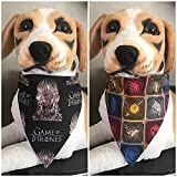 Reversible Pet Bandana Game of Thrones Over The Collar