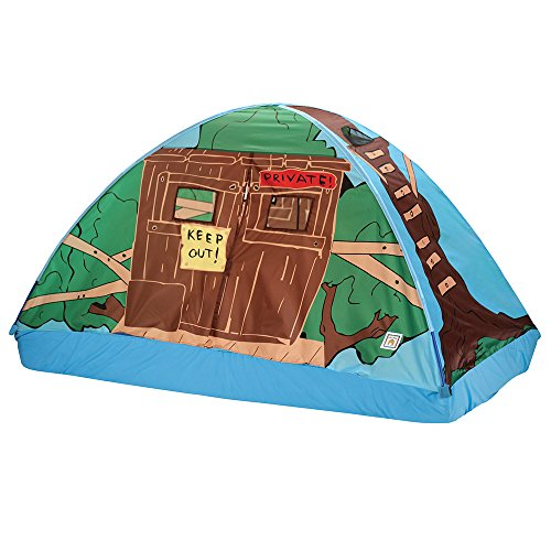 - Pacific Play Tents 19790 Kids Tree House Bed Tent Playhouse - Twin Size