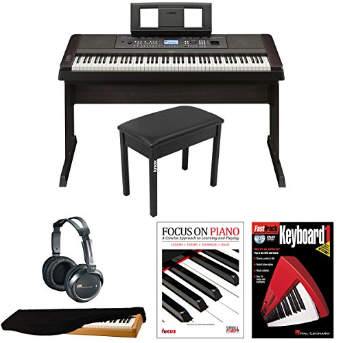 Yamaha DGX650B Headphones FastTrack Keyboard