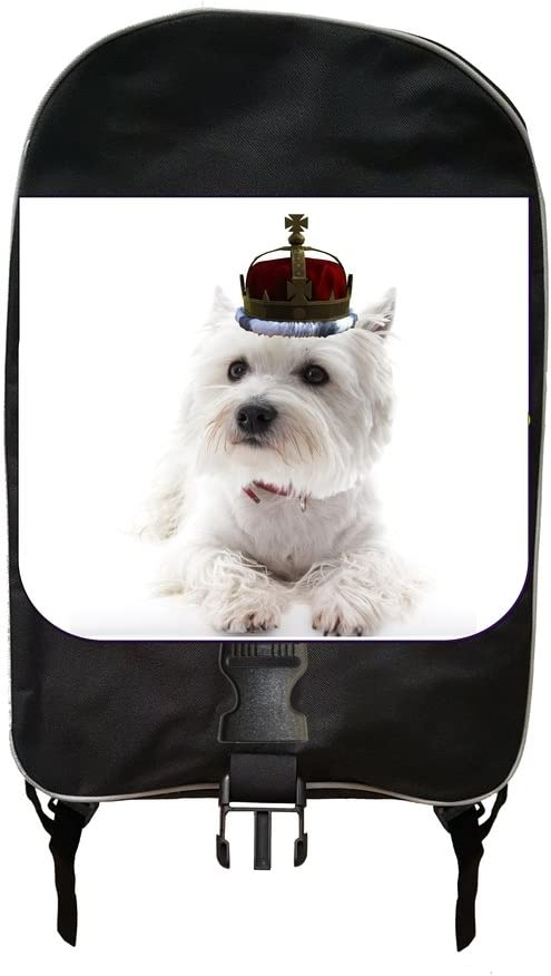 Puppy In A Crown Jacks Outlet School Backpack and Pencil Case Set
