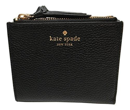 Kate Spade Small Malea Mulberry Street Leather Wallet WLRU3075 - Black