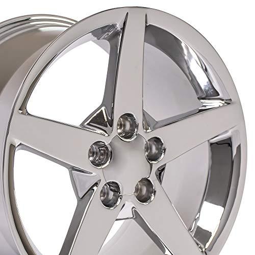 Corvette Z06 Wheels - OE Wheels 18 Inch Fits Chevy Camaro Corvette Pontiac Firebird C6 Style CV06A Chrome 18x9.5 Rim