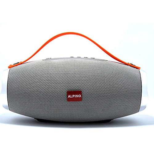 Alpino Thar Max Metallic Built Wireless Speaker USB/AUX/FM/2000mAh Battery And 6 Hours Of Playback(Grey)