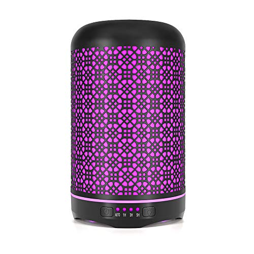 OTHWAY Metal Aroma Diffuser 250ml Aromatherapy Essential Oil Diffuser, Gorgeous Design, Super Quiet Ultrasonic, Automatic Shut Off, No Beep, Flexible Light Setting, Adjustable Timer Settings