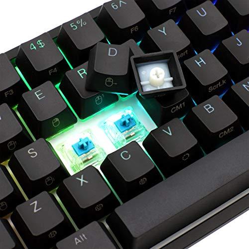 Akko X Ducky One 2 - Mini RGB Cherry MX Switch PBT Keycap 60% RGB Mechanical Gaming Keyboard (Cherry MX Blue)