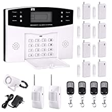 Professional Wireless Home Office Security System Remote Control Intelligent LED Display Voice Prompt GSM WiFi Burglar Alarm House Business Surveillance Cameras Auto Dial Outdoor Siren