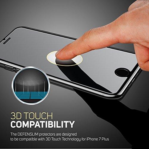 iPhone 8 Plus Glass Screen Protector, iPhone 7 Plus Glass Screen Protector Defenslim by Witkeen Ballistic Tempered Glass Screen Protector iPhone 8 Plus iPhone 7 Plus, (2-Pack) Case Compatible by WITKEEN (Image #4)