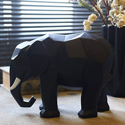 Davitu Creative Abstract Elephant Statue Resin Decorations Home Decor Accessories Gift Geometric Resin Elephant Sculpture Animal Crafts Color B Amazon Ca Home Kitchen