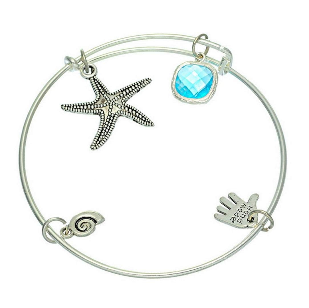 Zicue Stylish Charming Bracelet Exquisite Ornaments Silverplated Starfish pendant adjustable Bracelets for Women