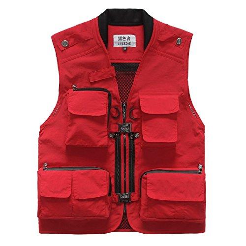 Photographie Et Gilet Camping Vest Rouge Tir Multi Hommes Chasse Air Plein pocket P¨ºche wazgxWqXOU