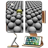 Luxlady Premium Apple iPhone 7 Flip Pu Leather Wallet Case IMAGE ID 287846 spheres surrounding a cube