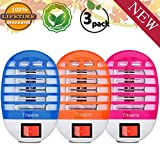 Bug Zapper Electronic Insect Killer,Mosquito Killer Lamp,Eliminates Most Flying Pests! Night Lamp(3p)(Blue+Pink+Orange)