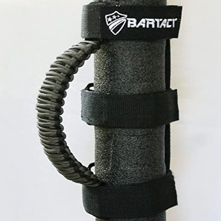 PAIR Bartact TAOGHUPBG - BLACK//GRAPHITE Roll Bar Paracord Grab Handles