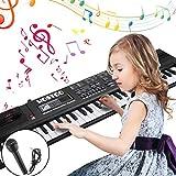 WOSTOO 61 Key Piano Keyboard Portable Electronic Kids Piano Keyboard Beginner Digital Music Piano Keyboard & Microphone Teaching Toy Gift for Kids Boy Girl