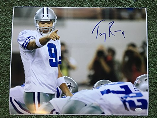 (Tony Romo #9 Signed Dallas Cowboys 16x20