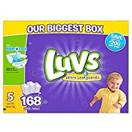 Luvs Diapers size 5, 168 ct (Old Version)