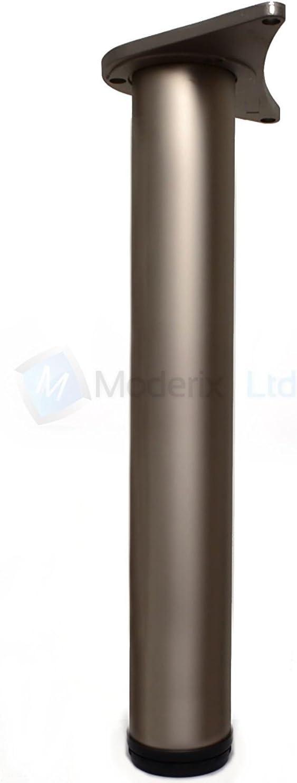 Lot de 4 pieds de table Satin/é 710 mm
