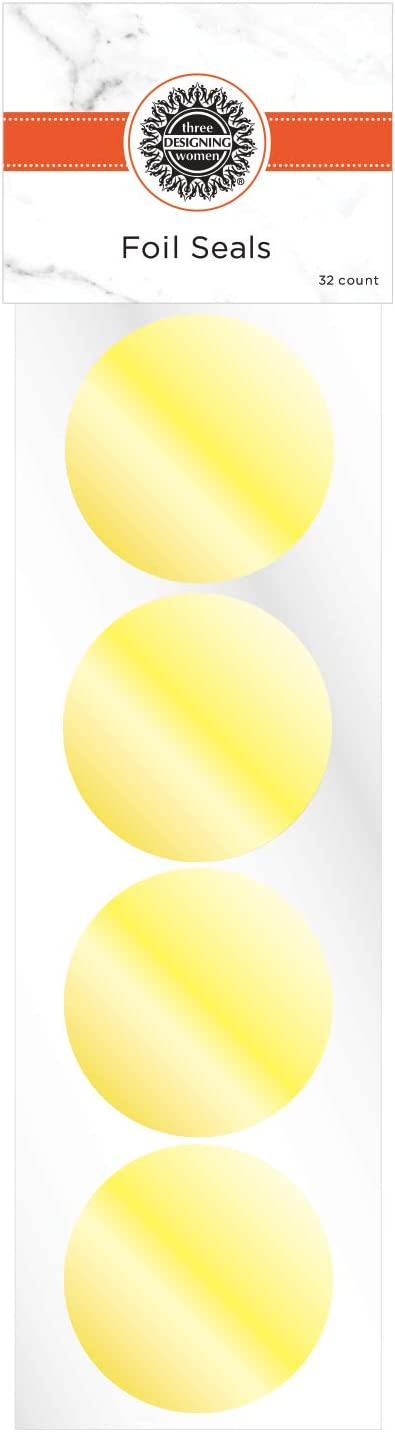 Gold Three Designing Women Foil Seals for Designer Embosser