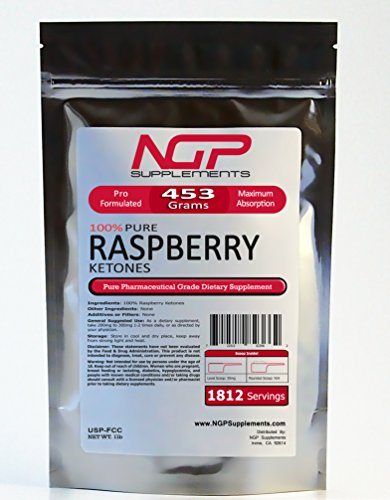 Raspberry Ketones Powder - Pharmaceutical Grade - 100% Pure (1lb (16oz)) by NGPSupplements