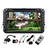 8 Inch Car Stereo DVD CD Player For VW GOLF 5 Golf 6 POLO PASSAT CC JETTA TIGUAN TOURAN Car Radio AM FM 2 Din Audio In Dash Deck With Cabus Steering Wheel Control Rree Rear Camera+CANBUS