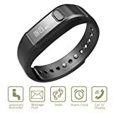 Fitness Tracker Activity Tracker,Shonco I5 S Bluetooth Smart Bracelet Sports Wristband Fitness Bracelet with Pedometer Health Sleep Monitor for iPhone IOS7.0 above/ Android 4.3 above Phone - Black