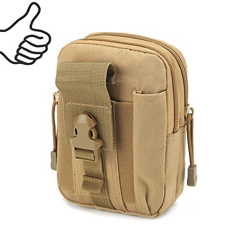 Multi-Purpose EDC Vape Pouch Bag, Vape Case,Tactical Bag Pouch, Military Nylon Utility Tactical Waist Pack Camping Hiking Pouch (Khaki) by Best-Pouch