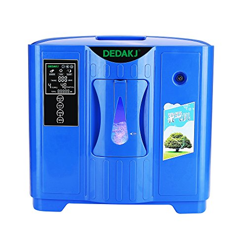 Air Purifier Easy To Carry Intelligent Touch Screen Oxygen Concentrator Generator 2-9L/min Machine 220V(Package With Transformer Converter) Without Battery-Deep Blue(Smart Edition)