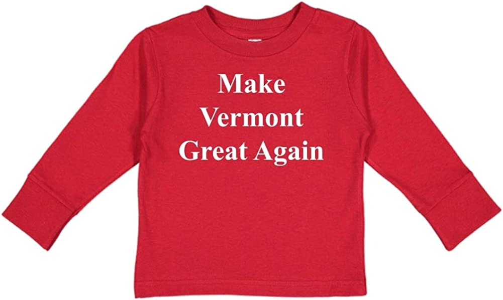 MAGA Trump Republican Toddler//Kids Long Sleeve T-Shirt Make Vermont Great Again