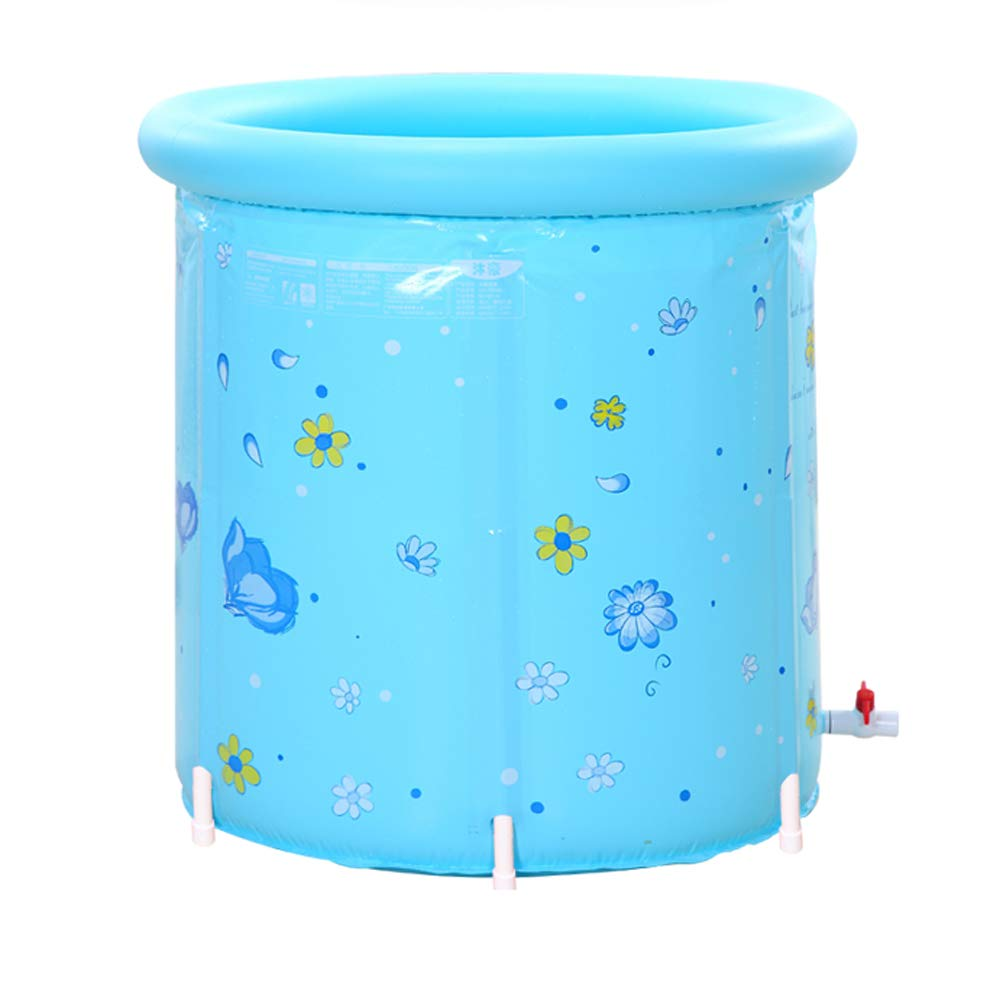 Badewanne 80x80cm XL Kunststoff Tragbare Aufblasbare Faltbare Barrel Groß e Erwachsene