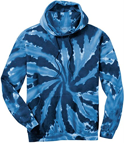 Light Blue Tie Dye - Joe's USA tm Hoodies Tie-Dye Hooded Sweatshirt,Small Navy Tie-Dye