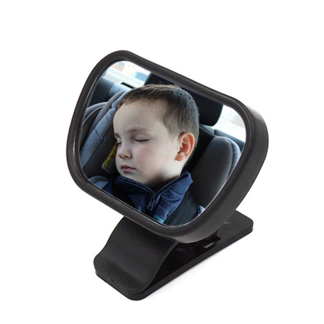 Asiento de coche con espejo retrovisor para beb/é 2 en 1 Espejo interior Negro