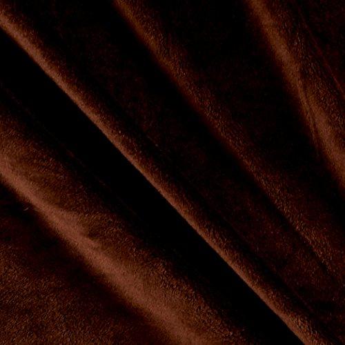 Fabric Solid Minky Plush Yard, Brown