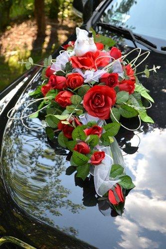 Autoschmuck Autodeko Hochzeit Dekor Verschieden Farben Komplett
