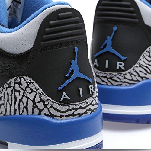 De Retro Para Air wolf Blue Deporte 3 Zapatillas Azul Negro Jordan Hombre Grey Gris Nike black Sport CSXxq0