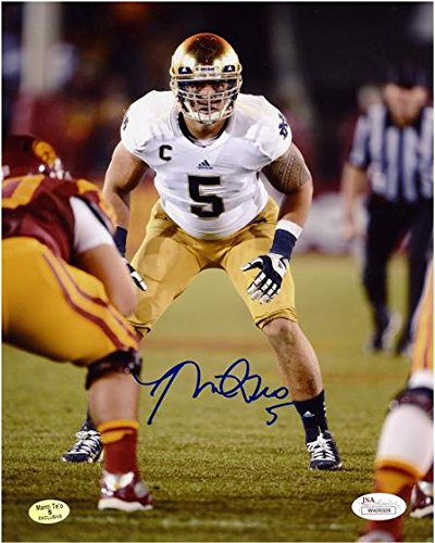 Manti Te'o Notre Dame Fighting Irish Autographed 8