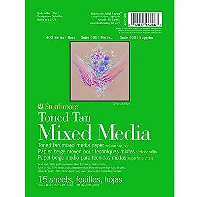 Strathmore 400 Series Toned Mixed Media Pad, Glue Bound, 15 Sheets per Pad