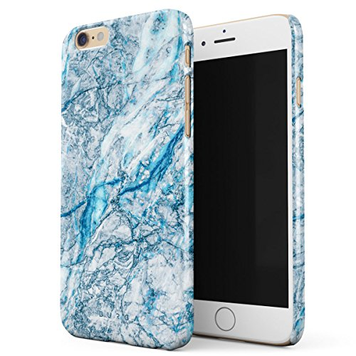 Blue Opal Granite (BURGA iPhone 6 / 6s Case, Melting Glacier Frosty Ice Blue Aqua Marble Thin Design Durable Hard Shell Plastic Protective Case For Apple iPhone 6 / 6s)