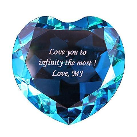 Personalized Custom Engraved Crystal Diamonds - Custom Crystal