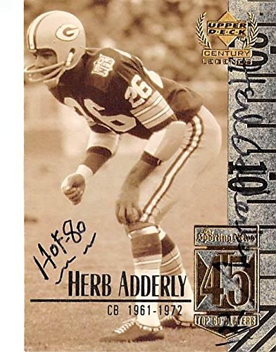 Herb Adderley autographed football card inscribed HOF 80 (Green Bay Packers)  1999 Upper Deck 4917f151e