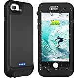 iPhone 7 plus/8 plus/6s plus/6 plus Waterproof Battery Case, Singdo QI Wireless Charging Compatible, 4800mAh Charging Case with Screen Protector Rechargeable Case Extended Battery Case (5.5inch)